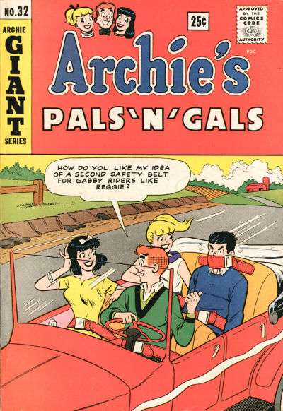 Archie's Pals 'N' Gals #32 comic books - cover scans photos Archie's Pals 'N' Gals #32 comic books - covers, picture gallery