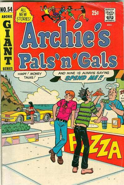 Archie's Pals 'N' Gals #54 comic books - cover scans photos Archie's Pals 'N' Gals #54 comic books - covers, picture gallery