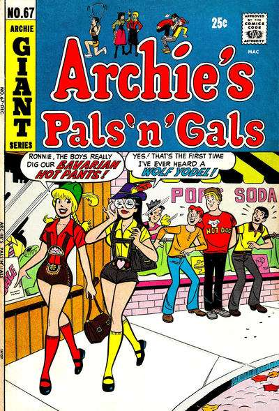 Archie's Pals 'N' Gals #67 comic books - cover scans photos Archie's Pals 'N' Gals #67 comic books - covers, picture gallery