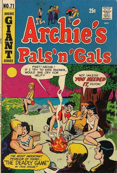 Archie's Pals 'N' Gals #71 comic books for sale