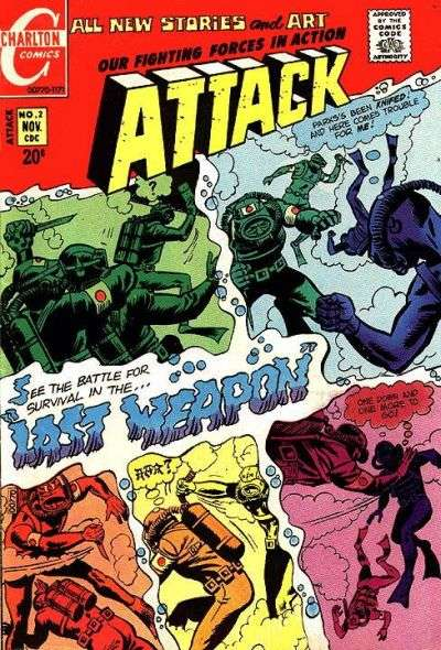 Attack #2 comic books - cover scans photos Attack #2 comic books - covers, picture gallery