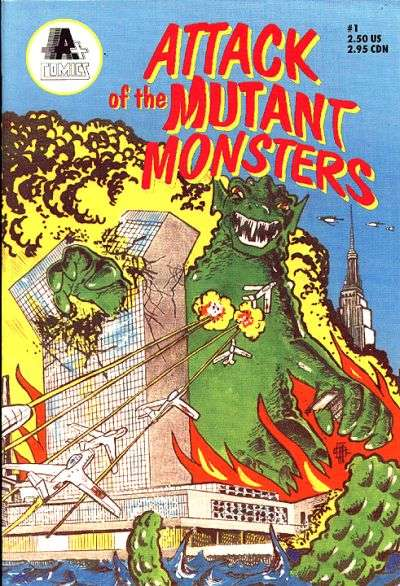Attack of the Mutant Monsters #1 comic books - cover scans photos Attack of the Mutant Monsters #1 comic books - covers, picture gallery