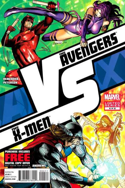 AvX vs. #4 comic books - cover scans photos AvX vs. #4 comic books - covers, picture gallery