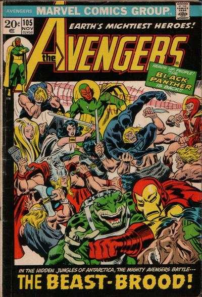 Avengers #105 comic books - cover scans photos Avengers #105 comic books - covers, picture gallery