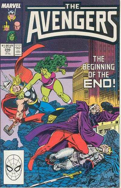 Avengers #296 comic books - cover scans photos Avengers #296 comic books - covers, picture gallery