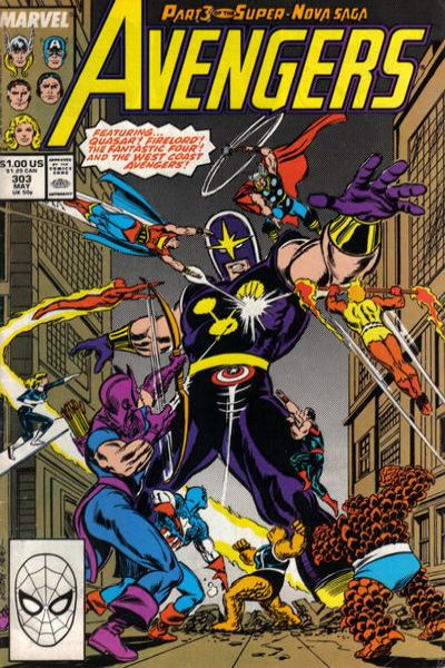 Avengers #303 Comic Books - Covers, Scans, Photos  in Avengers Comic Books - Covers, Scans, Gallery