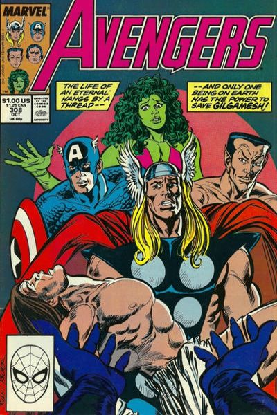 Avengers #308 comic books - cover scans photos Avengers #308 comic books - covers, picture gallery