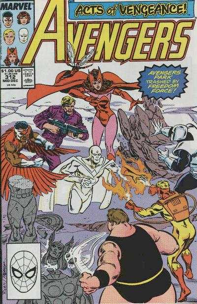 Avengers #312 Comic Books - Covers, Scans, Photos  in Avengers Comic Books - Covers, Scans, Gallery
