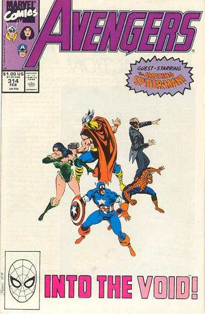 Avengers #314 Comic Books - Covers, Scans, Photos  in Avengers Comic Books - Covers, Scans, Gallery
