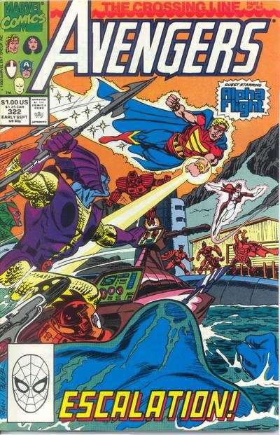Avengers #322 cheap bargain discounted comic books Avengers #322 comic books