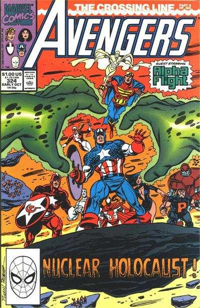 Avengers #324 comic books - cover scans photos Avengers #324 comic books - covers, picture gallery