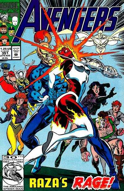Avengers #351 Comic Books - Covers, Scans, Photos  in Avengers Comic Books - Covers, Scans, Gallery