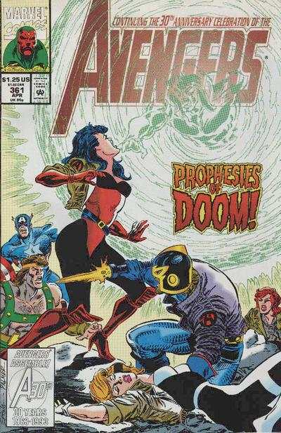 Avengers #361 Comic Books - Covers, Scans, Photos  in Avengers Comic Books - Covers, Scans, Gallery