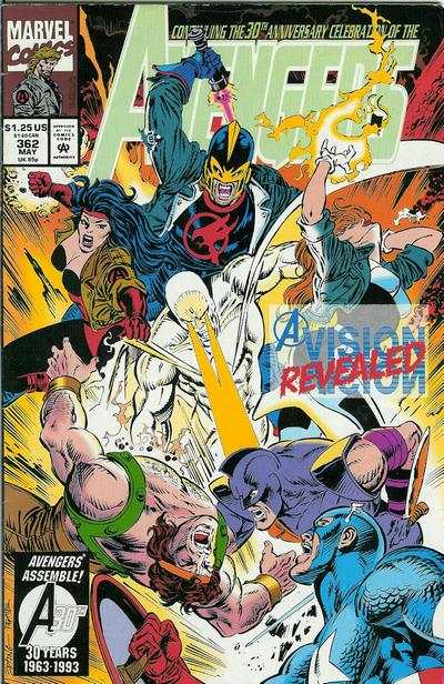 Avengers #362 comic books - cover scans photos Avengers #362 comic books - covers, picture gallery