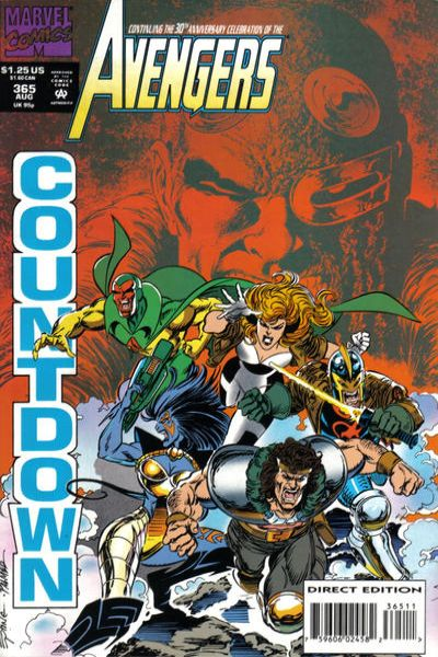 Avengers #365 Comic Books - Covers, Scans, Photos  in Avengers Comic Books - Covers, Scans, Gallery