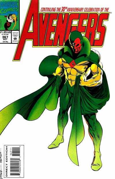 Avengers #367 Comic Books - Covers, Scans, Photos  in Avengers Comic Books - Covers, Scans, Gallery