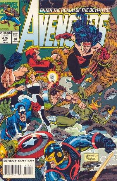 Avengers #370 comic books - cover scans photos Avengers #370 comic books - covers, picture gallery