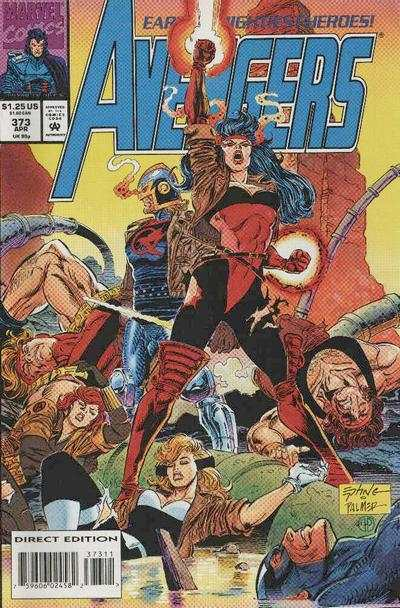 Avengers #373 comic books - cover scans photos Avengers #373 comic books - covers, picture gallery