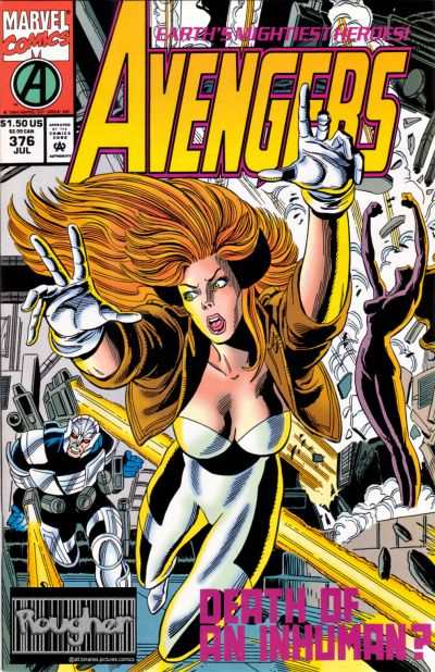 Avengers #376 comic books - cover scans photos Avengers #376 comic books - covers, picture gallery