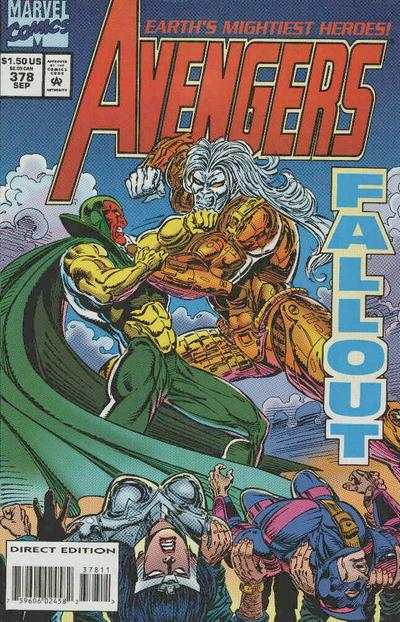 Avengers #378 comic books - cover scans photos Avengers #378 comic books - covers, picture gallery