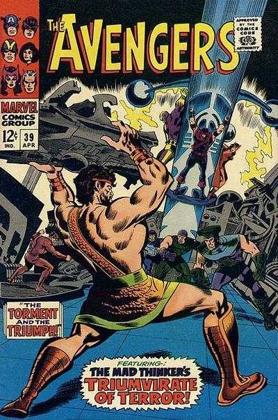 Avengers #39 comic books - cover scans photos Avengers #39 comic books - covers, picture gallery