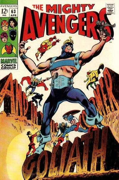 Avengers #63 comic books - cover scans photos Avengers #63 comic books - covers, picture gallery