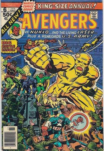 Avengers #6 comic books - cover scans photos Avengers #6 comic books - covers, picture gallery