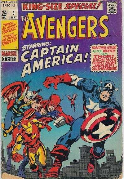 Avengers #3 comic books - cover scans photos Avengers #3 comic books - covers, picture gallery