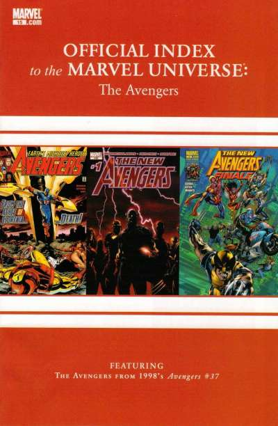 Avengers Thor & Captain America: Official Index to the Marvel Universe #15 comic books for sale