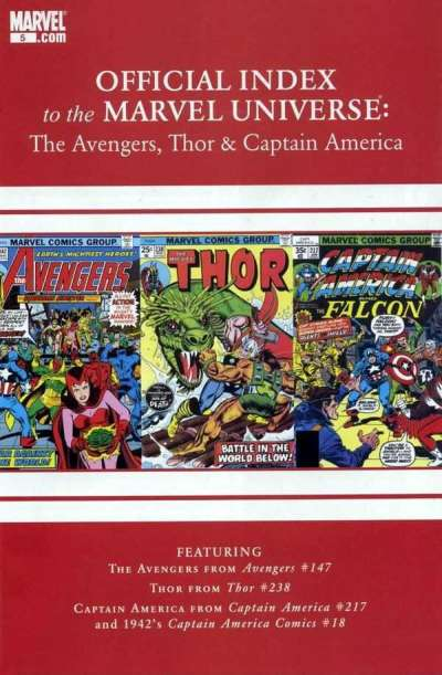 Avengers Thor & Captain America: Official Index to the Marvel Universe #5 comic books for sale