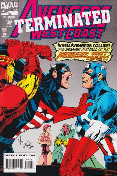 Avengers West Coast #102 comic books - cover scans photos Avengers West Coast #102 comic books - covers, picture gallery