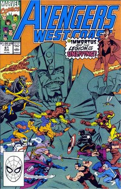 Avengers West Coast #61 comic books - cover scans photos Avengers West Coast #61 comic books - covers, picture gallery