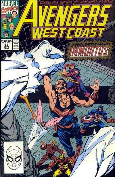 Avengers West Coast #62 comic books - cover scans photos Avengers West Coast #62 comic books - covers, picture gallery