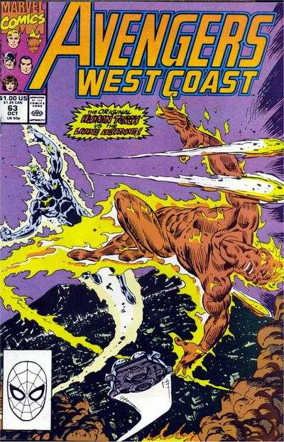 Avengers West Coast #63 comic books - cover scans photos Avengers West Coast #63 comic books - covers, picture gallery