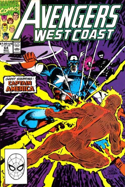 Avengers West Coast #64 comic books - cover scans photos Avengers West Coast #64 comic books - covers, picture gallery