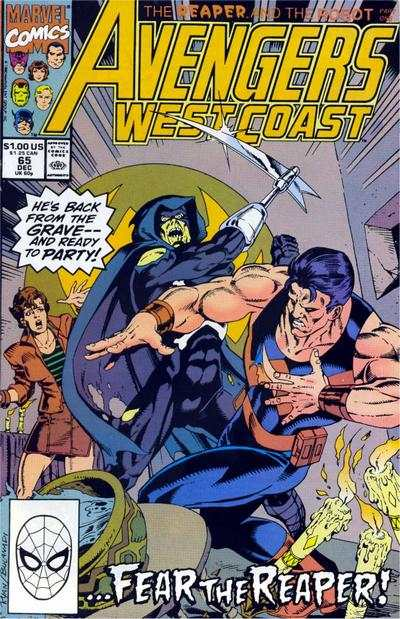Avengers West Coast #65 comic books - cover scans photos Avengers West Coast #65 comic books - covers, picture gallery