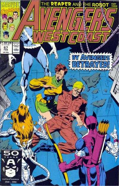 Avengers West Coast #67 comic books - cover scans photos Avengers West Coast #67 comic books - covers, picture gallery