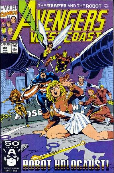 Avengers West Coast #68 comic books - cover scans photos Avengers West Coast #68 comic books - covers, picture gallery