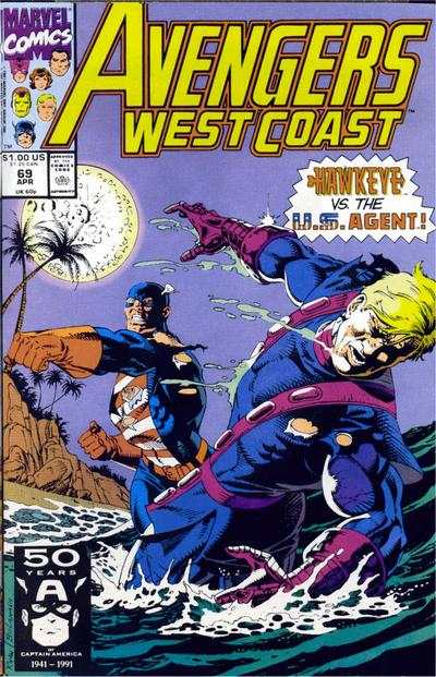 Avengers West Coast #69 comic books - cover scans photos Avengers West Coast #69 comic books - covers, picture gallery