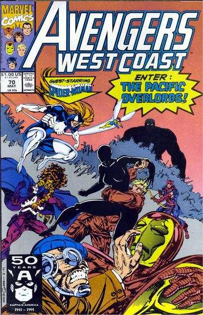Avengers West Coast #70 comic books - cover scans photos Avengers West Coast #70 comic books - covers, picture gallery