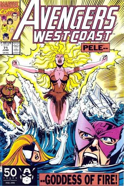 Avengers West Coast #71 comic books - cover scans photos Avengers West Coast #71 comic books - covers, picture gallery