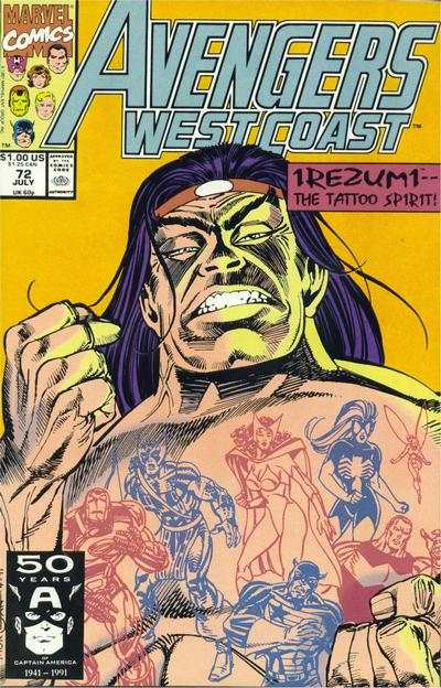 Avengers West Coast #72 comic books - cover scans photos Avengers West Coast #72 comic books - covers, picture gallery