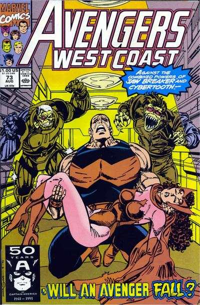 Avengers West Coast #73 comic books - cover scans photos Avengers West Coast #73 comic books - covers, picture gallery