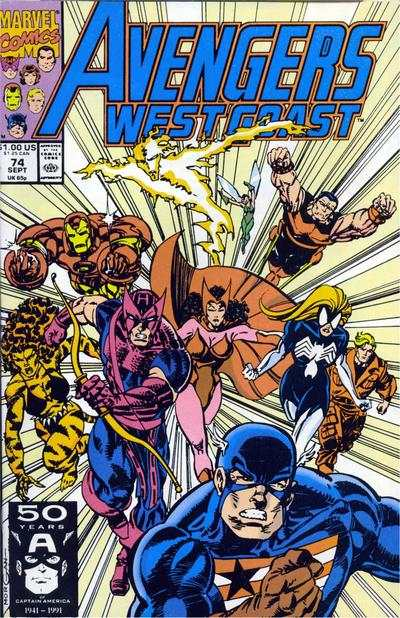 Avengers West Coast #74 comic books - cover scans photos Avengers West Coast #74 comic books - covers, picture gallery