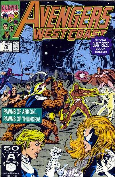 Avengers West Coast #75 comic books - cover scans photos Avengers West Coast #75 comic books - covers, picture gallery