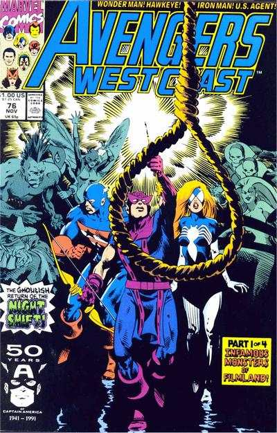 Avengers West Coast #76 comic books - cover scans photos Avengers West Coast #76 comic books - covers, picture gallery