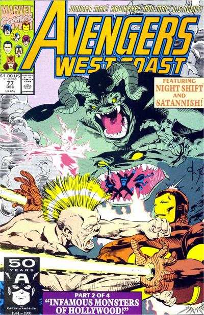 Avengers West Coast #77 comic books - cover scans photos Avengers West Coast #77 comic books - covers, picture gallery