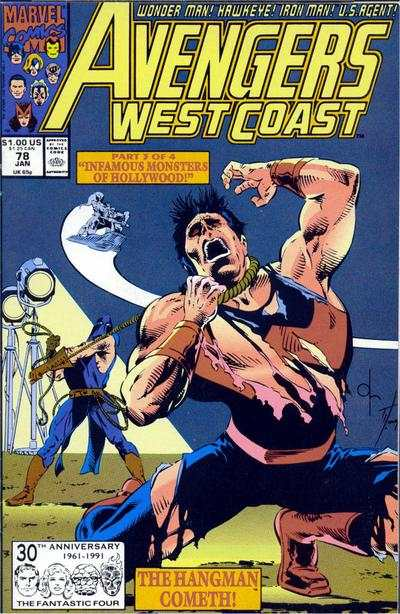 Avengers West Coast #78 comic books - cover scans photos Avengers West Coast #78 comic books - covers, picture gallery
