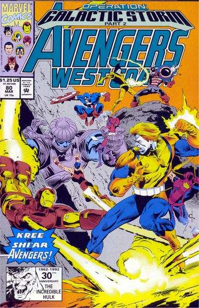 Avengers West Coast #80 comic books - cover scans photos Avengers West Coast #80 comic books - covers, picture gallery