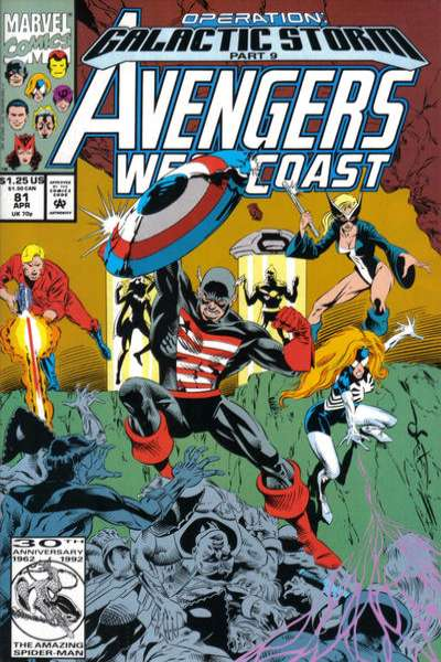 Avengers West Coast #81 Comic Books - Covers, Scans, Photos  in Avengers West Coast Comic Books - Covers, Scans, Gallery